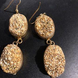 Francesca's gold stone earrings
